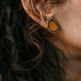 Boucles d'oreilles 1 cellule sur clous